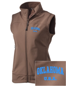 Oklahoma  Embroidered Women's Glacier Soft Shell Vest
