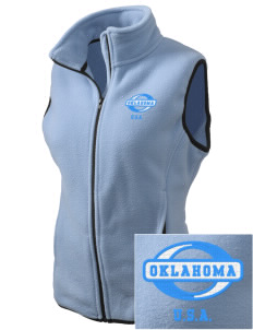 Oklahoma Embroidered Women's Fleece Vest