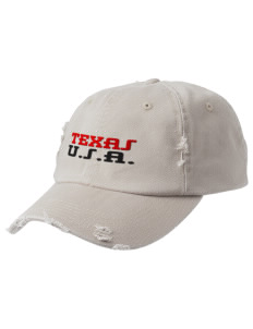 Texas Embroidered Distressed Cap