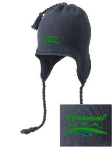 Vermont Embroidered Knit Hat with Earflaps