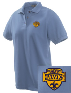 Riverview East Academy Hawks Embroidered Women's Pique Polo