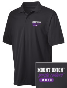 University of Mount Union Purple Raiders Embroidered Men's Micro Pique Polo