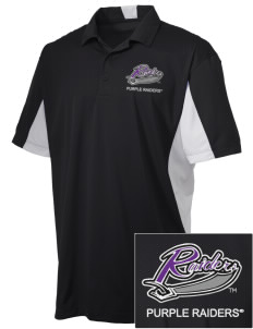University of Mount Union Purple Raiders Embroidered Men's Side Blocked Micro Pique Polo