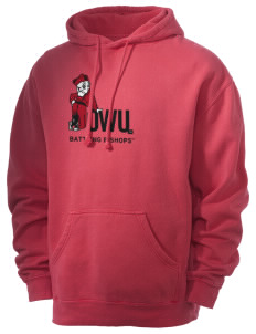 Ohio Wesleyan University Battling Bishops Men's 80/20 Pigment Dyed Hooded Sweatshirt