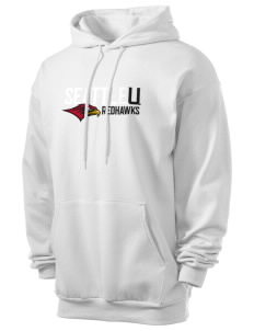 Seattle University Redhawks Men's 7.8 oz Lightweight Hooded Sweatshirt