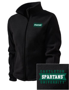 Castleton State College Spartans Embroidered Women's Fleece Full-Zip Jacket