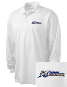 Lehman College Lightning Embroidered Men's Long Sleeve Micropique Sport-Wick Sport Shirt