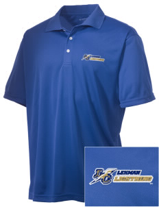 Lehman College Lightning Embroidered Men's Double Mesh Polo
