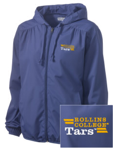 Rollins College Tars Embroidered Women's Hooded Essential Jacket