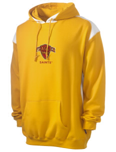 Flagler College Saints Men's Pullover Hooded Sweatshirt with Contrast Color