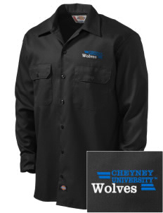 Cheyney University Wolves Embroidered Dickies Men's Long-Sleeve Workshirt