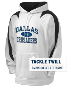 University of Dallas Crusaders Holloway Men's Sports Fleece Hooded Sweatshirt with Tackle Twill