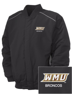 Western Michigan University Broncos Embroidered Russell Men's Baseball Jacket