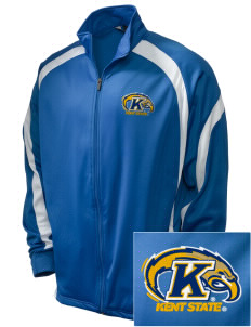 Kent State University Golden Flashes Embroidered Holloway Men's Tricotex Warm Up Jacket