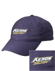 The University of Akron Zips  Embroidered New Era Adjustable Unstructured Cap