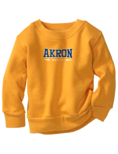 The University of Akron Zips Toddler Crewneck Sweatshirt