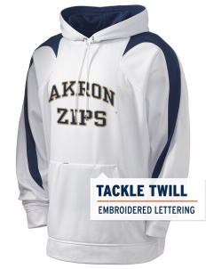 The University of Akron Zips Holloway Men's Sports Fleece Hooded Sweatshirt with Tackle Twill