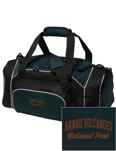 Hawaii Volcanoes National Park Embroidered Holloway Duffel Bag