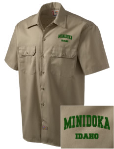 Minidoka National Historic Site Embroidered Dickies Men's Short-Sleeve Workshirt