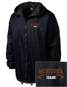 Minidoka National Historic Site Embroidered Dickies Men's Fleece-Lined Hooded Jacket