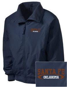 Santa Fe National Historic Trail Embroidered Men's Fleece-Lined Jacket