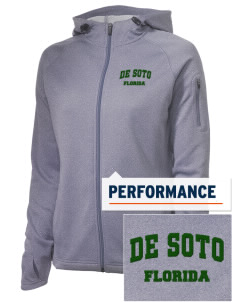 De Soto National Memorial Embroidered Women's Tech Fleece Full-Zip Hooded Jacket