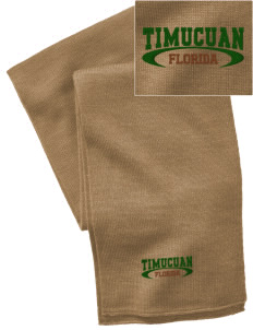 Timucuan Ecological & Historic Preserve  Embroidered Knitted Scarf