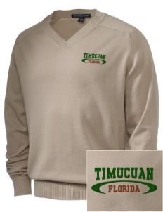 Timucuan Ecological & Historic Preserve Embroidered Men's V-Neck Sweater