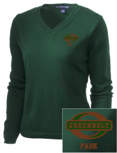 Greenbelt Park Embroidered Women's V-Neck Sweater