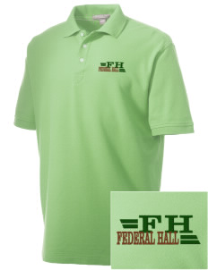 Federal Hall National Memorial Embroidered Men's Performance Plus Pique Polo