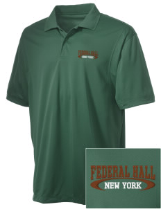 Federal Hall National Memorial Embroidered Men's Micro Pique Polo