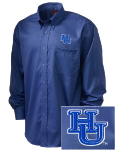 Hampton University Pirates  Embroidered Men's Nailhead Non-Iron Button-Down