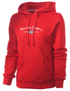University of Houston Cougars Russell Women's Pro Cotton Fleece Hooded Sweatshirt