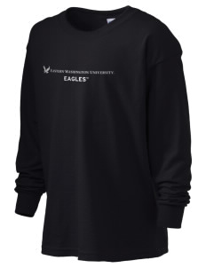 Eastern Washington University Eagles Kid's 6.1 oz Long Sleeve Ultra Cotton T-Shirt