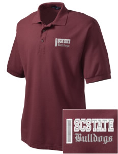 South Carolina State University Bulldogs Embroidered Tall Men's Silk Touch Polo