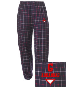 Glenwood Embroidered Men's Button-Fly Collegiate Flannel Pant