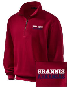 Grannis Embroidered Men's 1/4-Zip Sweatshirt