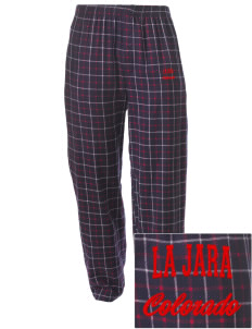 La Jara Embroidered Men's Button-Fly Collegiate Flannel Pant