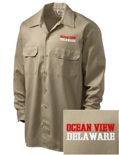 Ocean View Embroidered Dickies Men's Long-Sleeve Workshirt