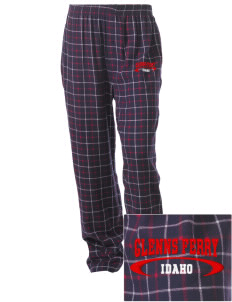 Glenns Ferry Embroidered Unisex Button-Fly Collegiate Flannel Pant