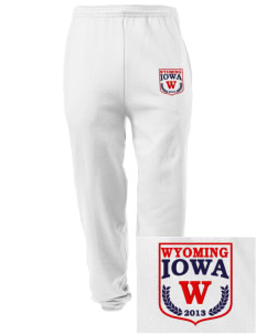 Wyoming Embroidered Men's Sweatpants with Pockets