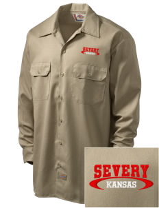 Severy Embroidered Dickies Men's Long-Sleeve Workshirt