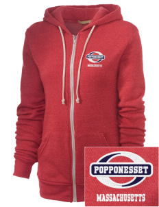 Popponesset Embroidered Alternative Unisex The Rocky Eco-Fleece Hooded Sweatshirt