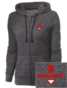 Russell Embroidered Women's Marled Full-Zip Hooded Sweatshirt