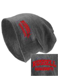 Russell Embroidered Slouch Beanie
