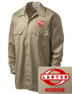 Lawton Embroidered Dickies Men's Long-Sleeve Workshirt