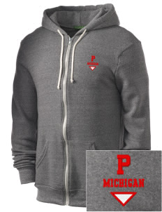 Pinckney Embroidered Alternative Men's Rocky Zip Hooded Sweatshirt