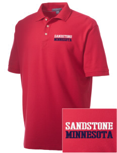 Sandstone Embroidered Men's Performance Plus Pique Polo