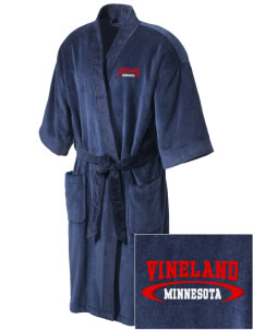 Vineland Embroidered Terry Velour Robe