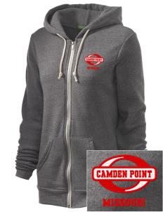 Camden Point Embroidered Alternative Unisex The Rocky Eco-Fleece Hooded Sweatshirt